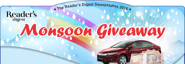 Reader's Digest Monsoon Giveaway